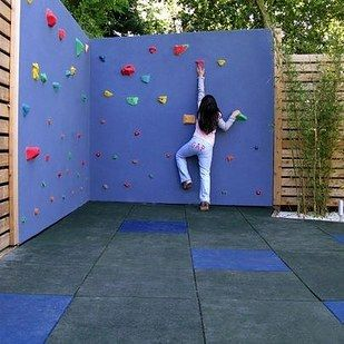 Make your own rock-climbing wall. | 51 Budget Backyard DIYs That Are Borderline Genius