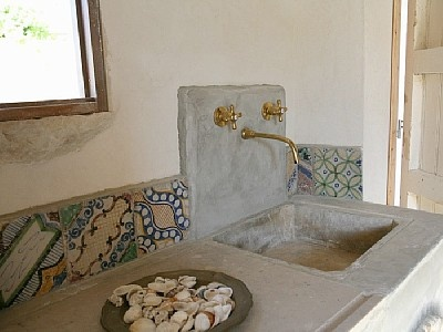 Kitchen in country house in Sicily