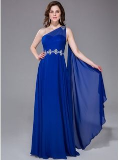 Prom Dresses - $158.99 - A-Line/Princess One-Shoulder Floor-Length Chiffon Prom Dress With Ruffle Beading  http://www.dressfirst.com/A-Line-Princess-One-Shoulder-Floor-Length-Chiffon-Prom-Dress-With-Ruffle-Beading-017041048-g41048