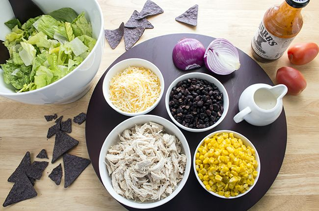 BBQ Chicken Salad with dressing ingredients from above
