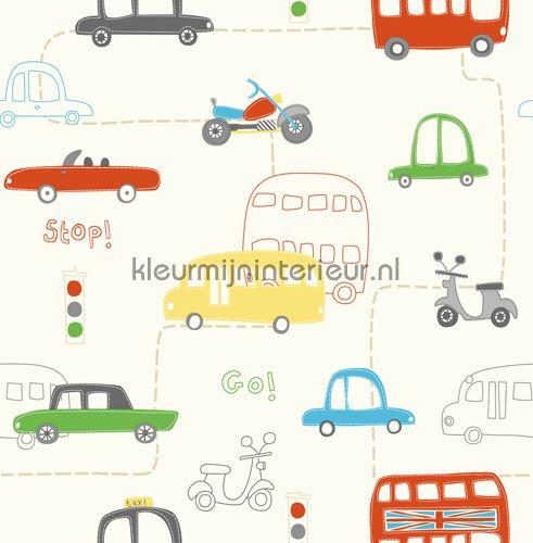 Vroem... behang DL30708 auto - transport Dutch Wallcoverings