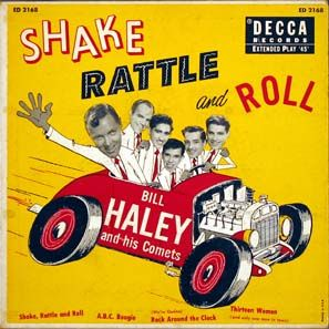 Here's a cartoon cover of Bill Haley and The Comets. They were among the prominent Rock n' Roll groups during the 1950s. Albums were among the new goods that teenagers were able to buy. Rock and Roll History. (n.d.). Salsa, tango, rock and roll, belly dance. Retrieved from http://www.esto.es/rock/english/history.htm