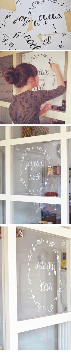 Décoration des fenêtres @ encre violette l #JoyeuxNoel #MerryChristmas