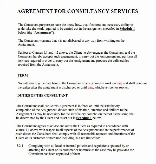 Consulting Agreement Template Short Inspirational Consulting Agreement 7 Free Pdf Doc Download Contract Template Lesson Plan Book Templates Plan Book Template