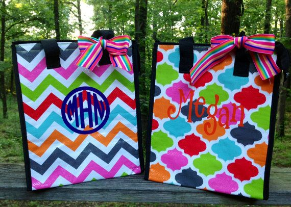 Monogrammed/Personalized MultiColored Chevron by MSMudpieBoutique, $13.25
