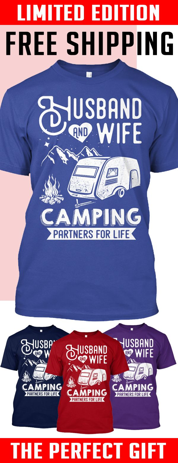 Camping Partners For Life - LTD ED - Limited edition. 2 days left for Free Shipping. Makes a perfect gift!
