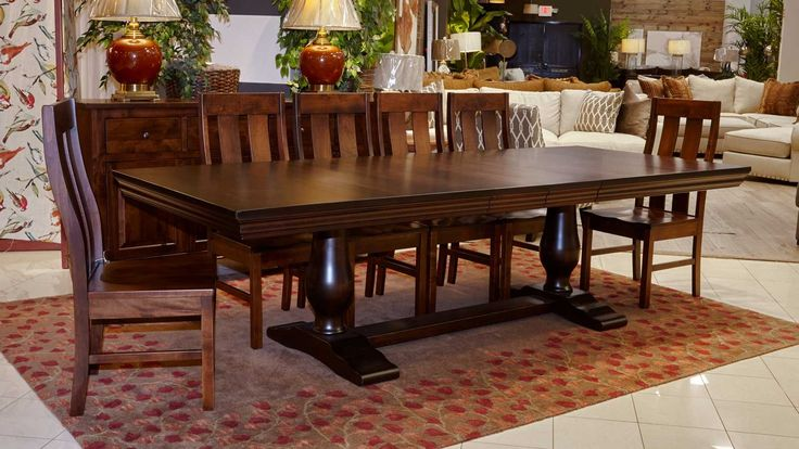 Dining Room Simple Dining Room Sets Have Dining Table Sets 6 Chairs Long Table Above White Ceramic Floor Front 2 Lampshade On The Wood Table Storage Beside Sofa Many Pillows Tips in Searching for Discount Dining Room Sets