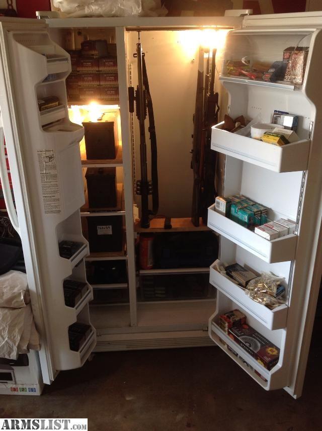 Refrigerator Gun Storage