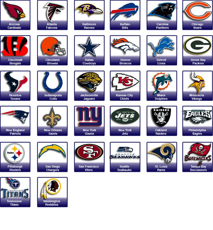 Alle Nfl Teams