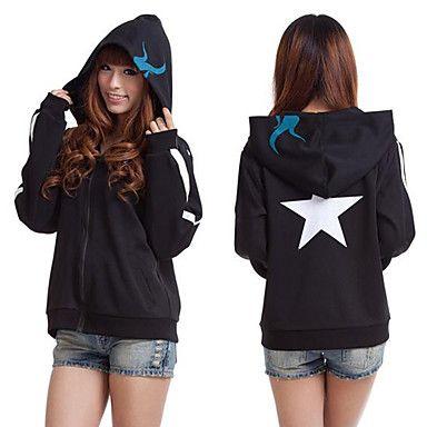 Black Rock Shooter Cosplay Hoodie Jacket (Women's Size) – USD $ 39.99 WANT IT NOOOWWWWW!!!!!!!!!!!!!!!!
