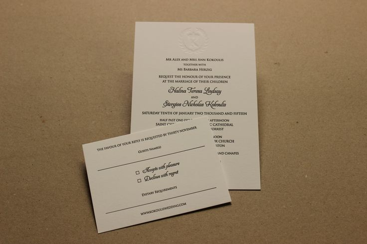 Invitation and RSVP.