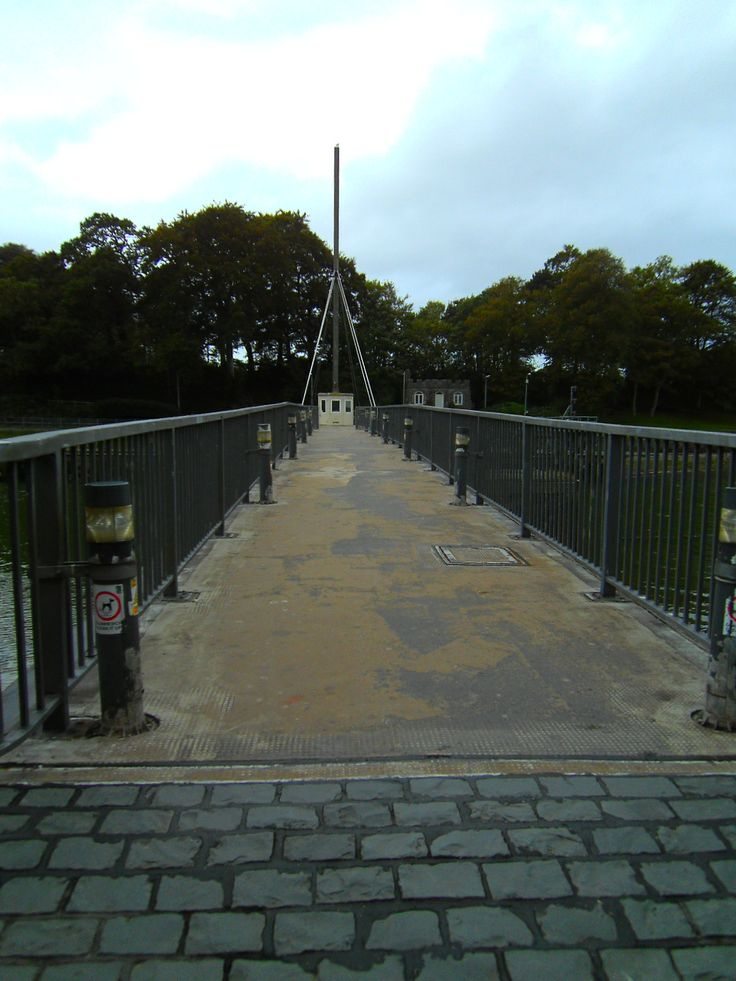 This photograph was taken from the end of a bridge in Caernarfon.