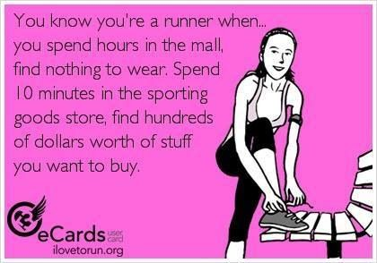 It's true! I wish I could wear running clothes to work.