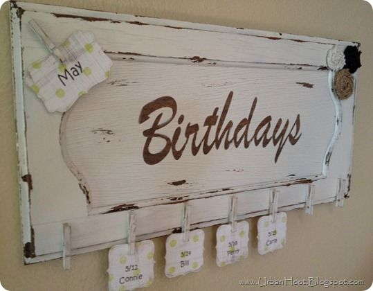 I wonder if I would be better at remembering birthdays if I had something like this...hmmm