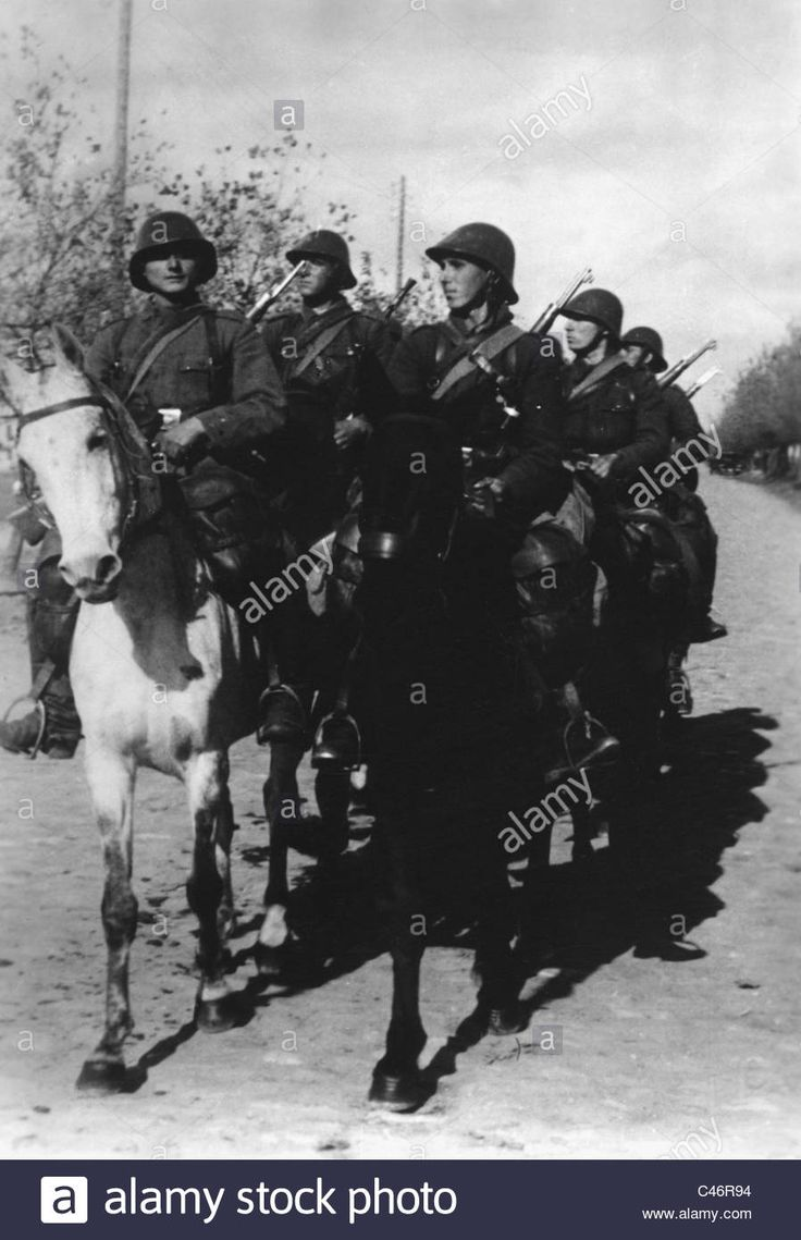 Second World War: Eastern Front. Romanian troops in German Army Group South
