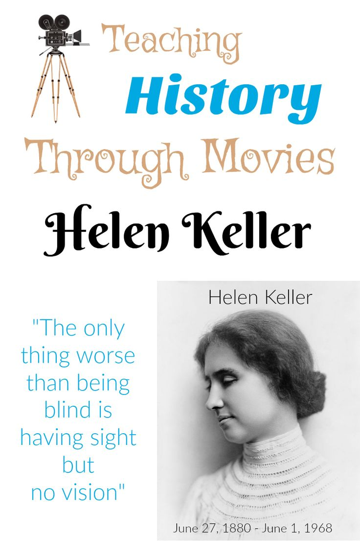 Teaching History Through Movies: Helen Keller offers up not only the movies,but tons of resources to help students learn more about Helen Keller. This includes movies, online resources, books, printables and more! A great homeschool unit study from Starts At Eight!