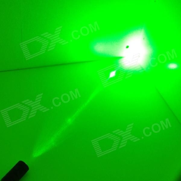 5mW 532nm Green Laser Pointer w/ 16340 Battery / Charger - Black