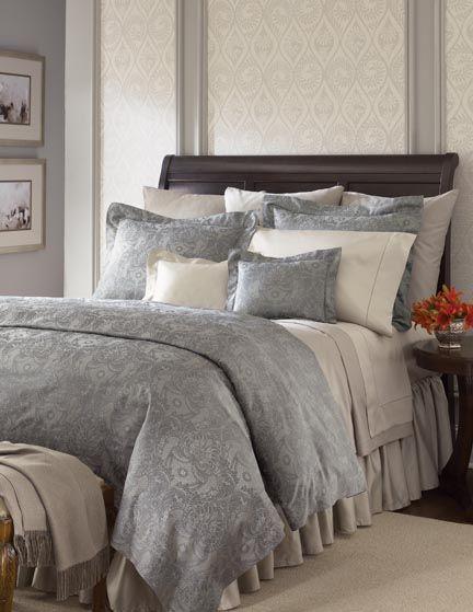 Dark Sleigh Bed Master Bedroom
