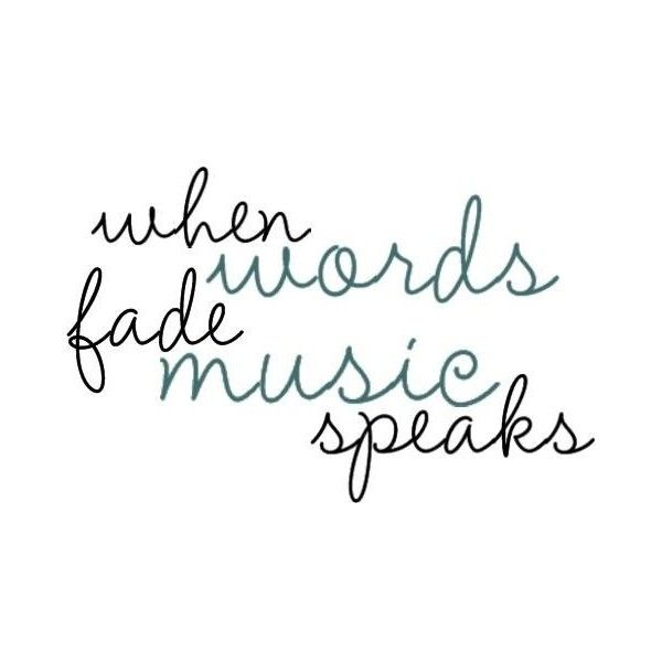 music quote ❤ liked on Polyvore