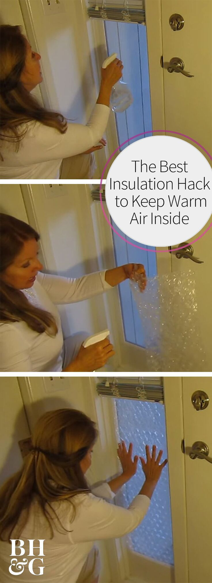 Beat the winter chills and save money on your electric bill with this window insulating hack! Your pocketbook will thank you! #heating #heatingtips #lifehacks