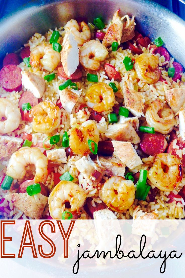 Easy dinners are a must for any busy family. This 30-minute meal is tasty and so easy to whip up. Try this easy Jambalaya recipe!