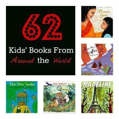 A teacher's list of 62 favorite kids' books from around the world. {Playdough to Plato}