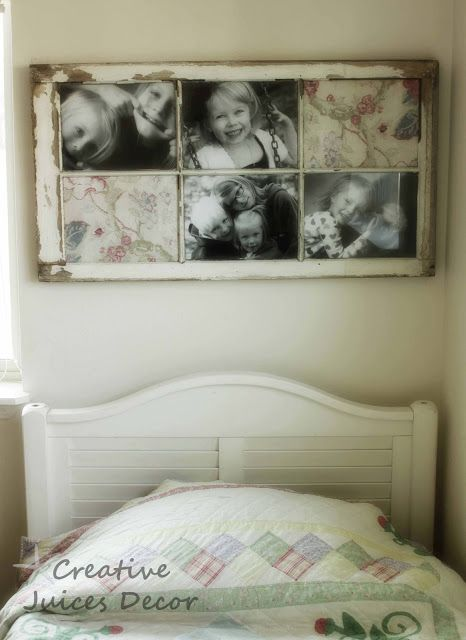 DIY::Repurposing a window frame into a picture frame