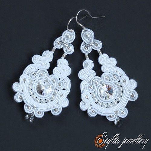 Kolczyki sutasz Królowa Śniegu - Biżuteria ślubna - Biżuteria srebrna