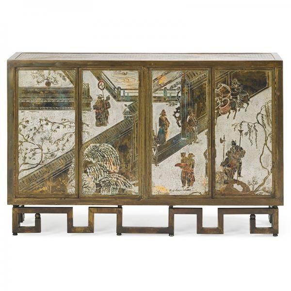 """PHILIP AND KELVIN LaVERNE Rare Chan Li cabinet, mis en vente lors de la vente """"Design Moderne"""" à Rago Auctions   Auction.fr"""