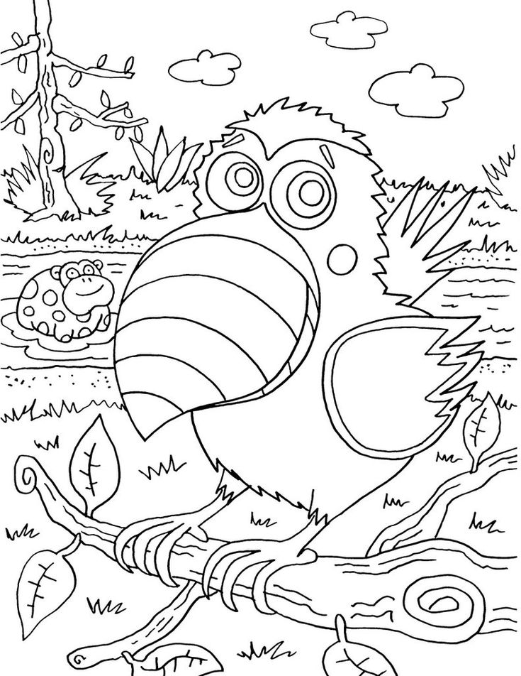 summer birds coloring pages - photo#7