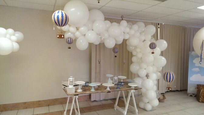Wow! Custom made cloud feature overhanging sweets table. Balloons.com.au