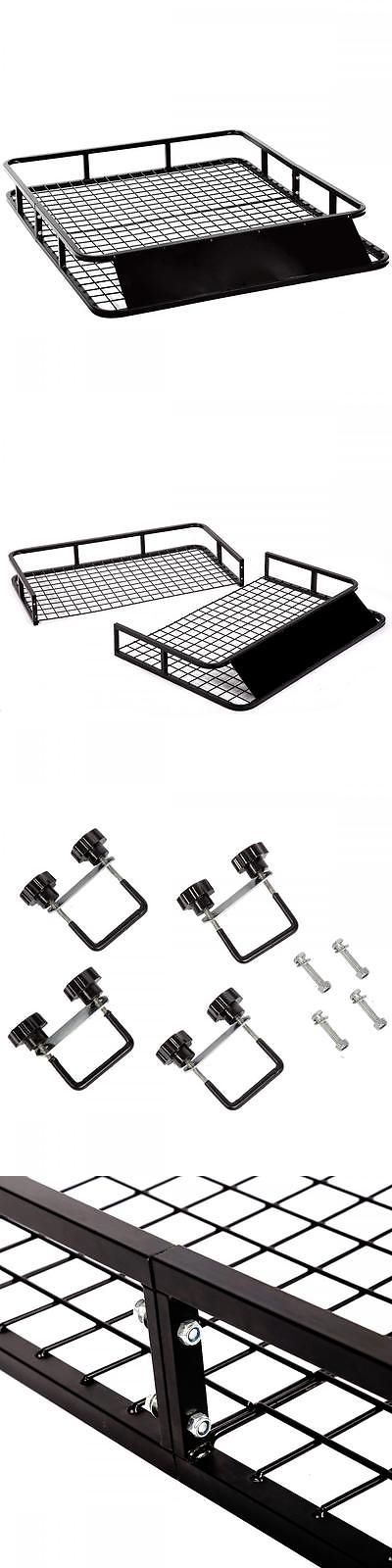 Racks and Carriers 21231: New Universal Roof Rack Basket Holder Travel Car Top Luggage Carrier Cargo BUY IT NOW ONLY: $86.95