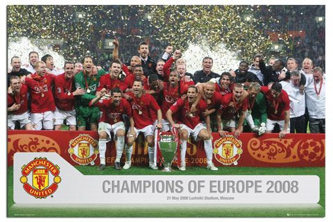 Manchester United Champions League Winners 2008