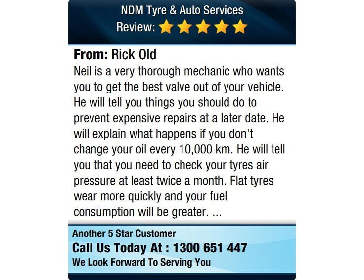 Neil is a very thorough mechanic who wants you to get the best valve out of your...