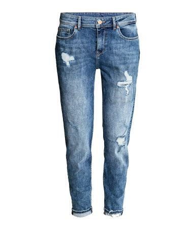 Boyfriend Low Trashed Jeans | Blau | Damen | H&M DE