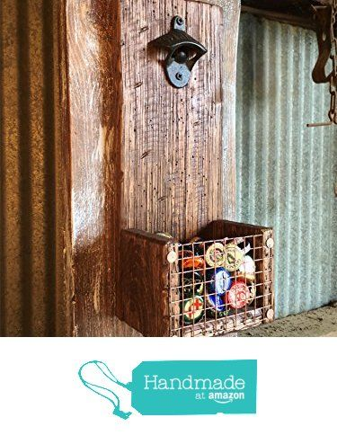 Wall Mount Bottle Opener and Cap Catcher from Distressed Projects http://www.amazon.com/dp/B01E2RAQUA/ref=hnd_sw_r_pi_dp_U6wuxb0W4ZZC1 #handmadeatamazon