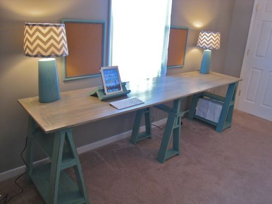 Double Saw Horse Workstation | Do It Yourself Home Projects From Ana White.  I Want. Diy SawhorseEasy ...