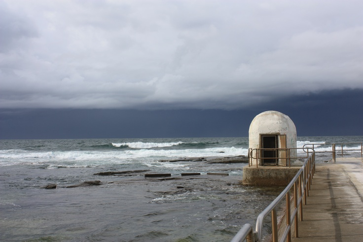 Merewether Bars on a stormy afternoon