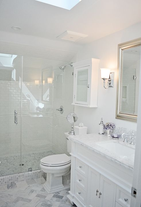 attic guest bathroom and shower