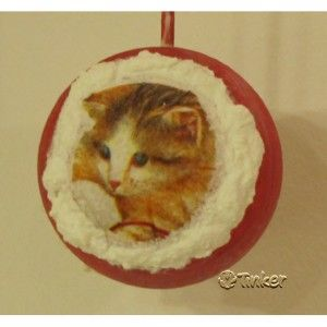 A kitty on a Christmas ball