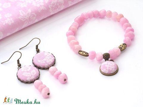 Rózsaszín ékszerszett (Gubancbolt) - Meska.hu