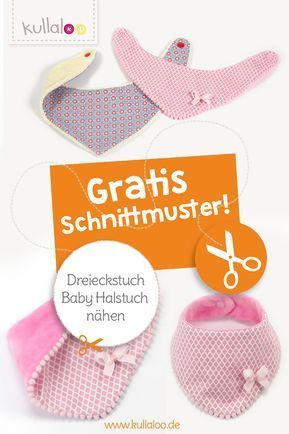 Dreieckstuch / Baby Halstuch nähen für Babys und Kinder