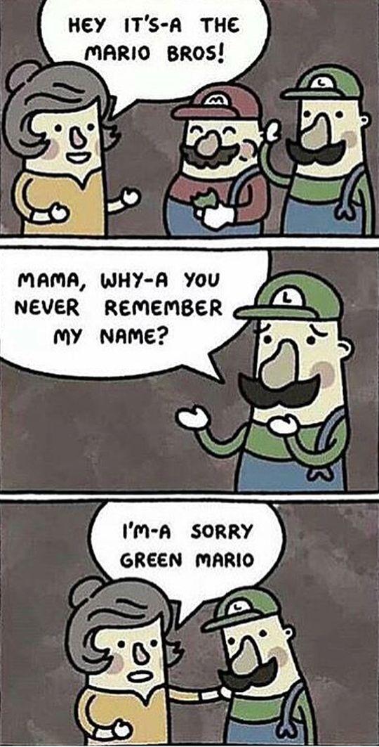 Poor Luigi http://ift.tt/2ldvggw