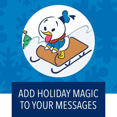 Add holiday magic to your messages