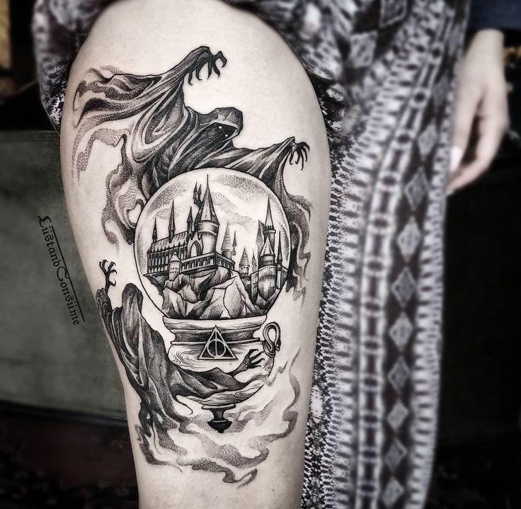 Harry Potter Piece with Dementors & Hogwarts