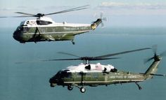 The VH-3D Sea Kings that have served for many decades are especially in need of a replacement, but as you can see in some of the historical picturest, their age is partially their charm. These aircraft are flown by Marine Helicopter Squadron HMX-1 out of Quantico, VA as well as the newer and smaller VH-60N White Hawks. The whole fleet is stated to be replaced with the Sikorsky VH-92 in the coming decade.