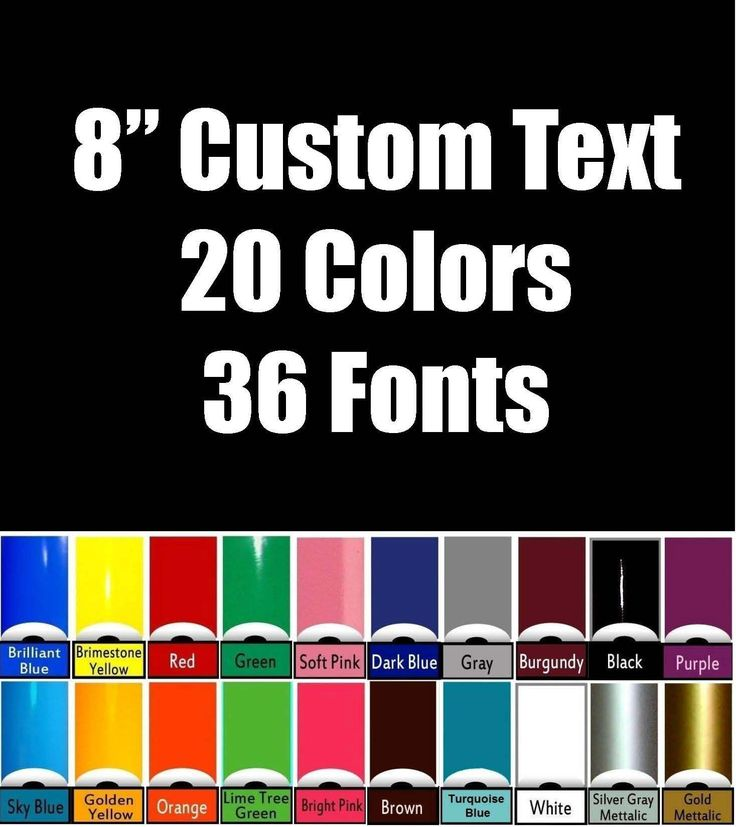 8 custom vinyl lettering text up to 14 characters personalized car truck window