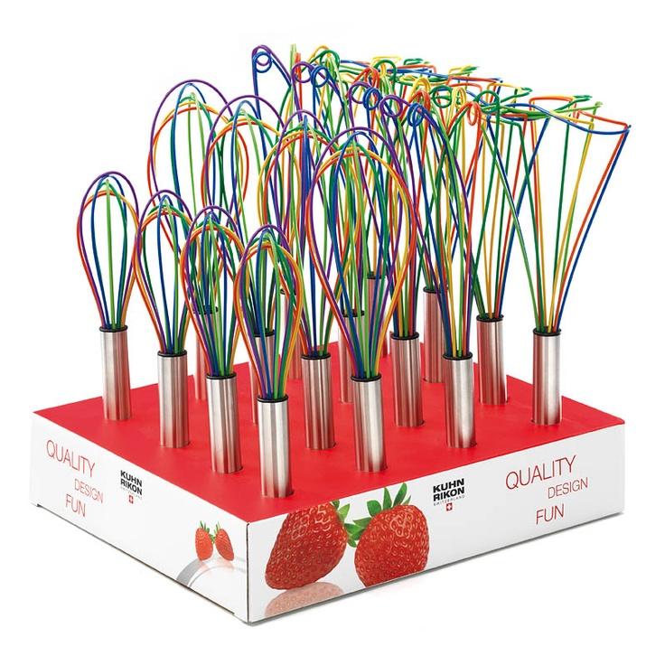 Rainbow kitchen whisks - okay. now im obsessed with rainbow kitchen stuff.