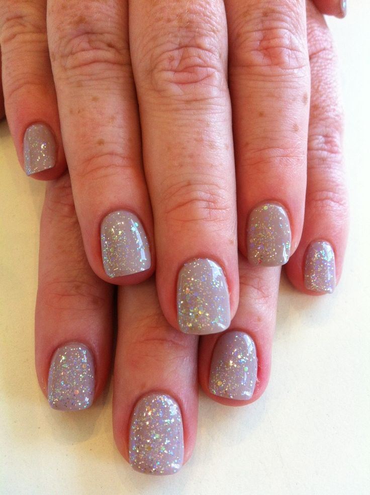 Bio Sculpture Gel colour #153 - Marilyn with iridescent glitter