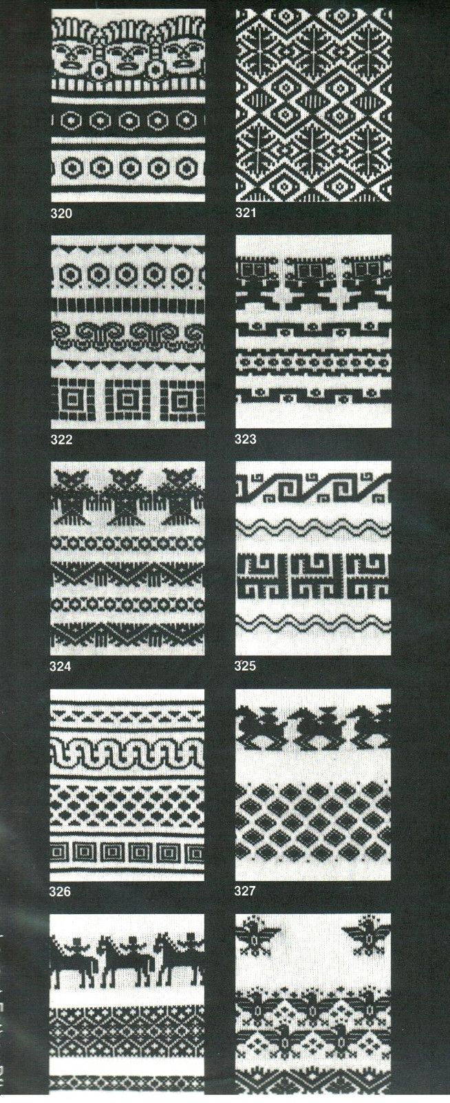 Machine Knitting 10 Handy Punch Patterns Regine Faust s 320 Mexican Designs New | eBay